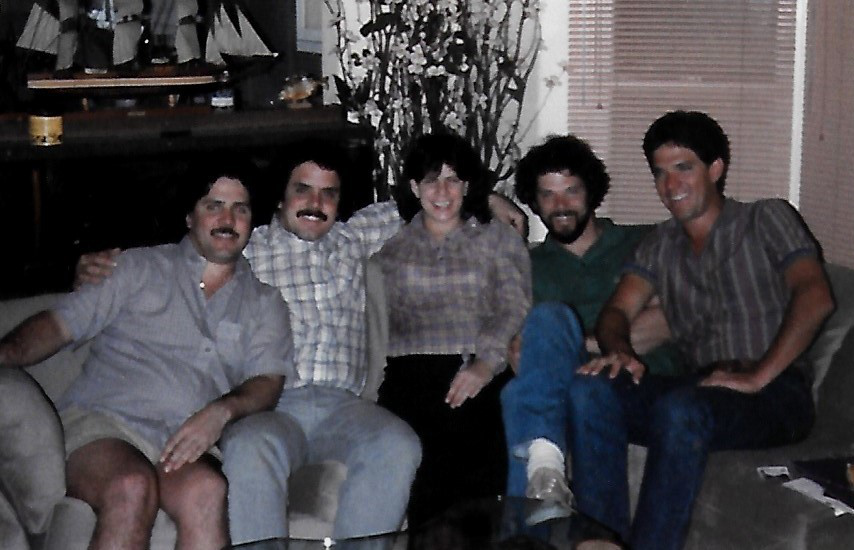 Some of Harry's Children. From left to right Daniel Timothy, Cynthia. Roger and Ron.
